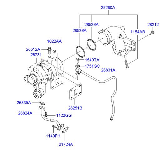 Схема турбокомпрессора d4al hd72