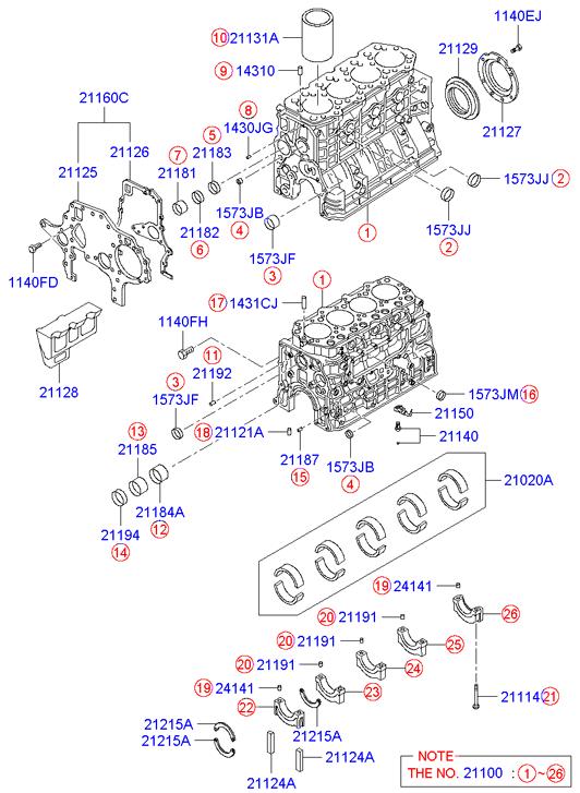 Блок двигателя D4DD